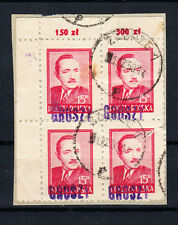 Polen Briefmarken 1950 Groszy Aufdruck T3 Präsident Mi.Nr. 4x 626 Rand geprüft