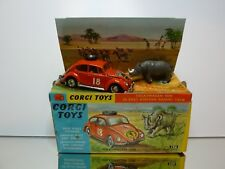 CORGI TOYS 256 VW VOLKSWAGEN BEETLE EAST AFRICAN SAFARI - 1:43 - GOOD IN BOX
