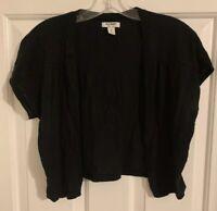 Women's Old Navy Black Color Crop Top Cardigan Size M