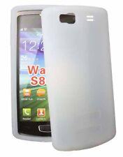 Silikon Case für Samsung S8600 Wave 3 in weiß Schutzcase Schutzhülle Cover