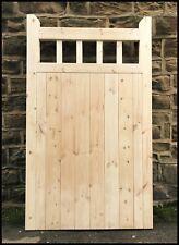 gate handmade wooden cottage style flat top tall pedestrian garden gate
