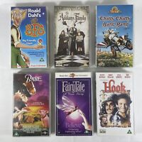 Children's Movies VHS Video Tapes x6 Bundle Collection The BFG Hook Fairy Tale
