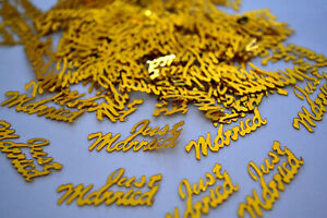 JUST MARRIED WEDDING PARTY FOIL TABLE CONFETTI - ALL COLOURS