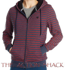 T13 Zoo York Paddington Sherpa Lined Hoodie • NWT Mens Large Navy / Red • #28042