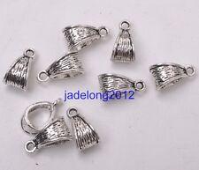 15pcs Tibetan Silver Connectors Bails fit charm bead For DIY Bracelet 14MM C3101