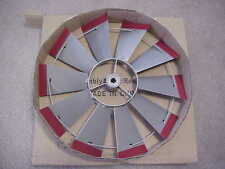 """FAN 12"""" ONLY REPLACEMENT PART Silver with Red Tips 4 Ft Windmill...11... 45A1"""