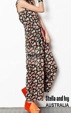 FLORAL BOHO JUMPSUIT SIZE 8 AU WOMENS NEW