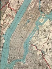 POST CARD REPRODUCTION OF VINTAGE 1890 MAP OF NEW YORK CITY