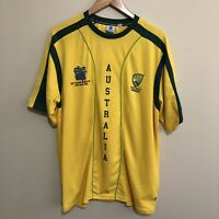 Cricket Australia ICC World Cup 2007 Official Shirt T-Shirt Tee Yellow Mens XL