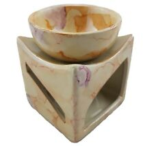 Oil Burner Ceramic Zen Fragrant Wax Melt Aromatherapy Glossy Large Dish