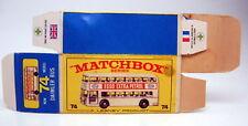 "Matchbox RW 74B Daimler Bus leere originale ""E2"" Box weißes Modell"