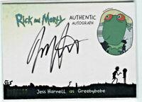 CRYPTOZOIC RICK AND MORTY SEASON 1 * AUTOGRAPH CARD * JESS HARNELL/GREEBYBOBE