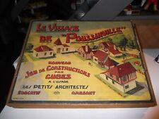 jeux de construction RARE  le village de poussinville  jouet ancien GB FRANCE