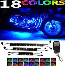 6pc LED Engine Fairing Body Kit Lights Glow Lighting for Harley Road King FLHX