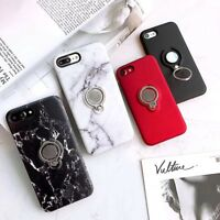 For iPhone XR X 8 7 6 Plus New Hard Phone Cover Case Skin With Ring Stand Holder