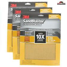 12 Sheets Wet Dry Sanding Sand Paper 320 Grit New