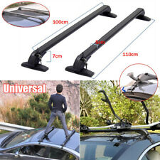 2×Universal Car Roof Rail Luggage Rack Baggage Carrier Cross Bar Aluminum Alloy