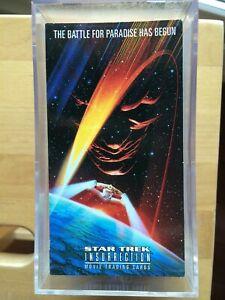 COMPLETE SET STAR TREK INSURRECTION SKYBOX 1998 - 72 TRADING CARDS NEUF MINT