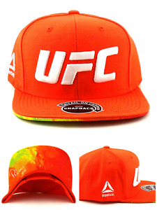 UFC Reebok New MMA Octagon Fighter Orange White Fight Night Era Snapback Hat Cap