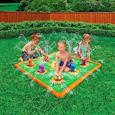 BANZAI SMASH 'N SPLASH GOPHER FIELD WATER MAT OUTDOOR TOY SPRINKLER BIRTHDAY