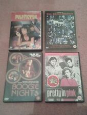 DVDs - Pulp Fiction, The Commitments, Boogie Nights & Pretty In Pink (Bundle)