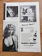 1952 Black White Scottish Scotty Terrier Westie Ad On the TV Television Set