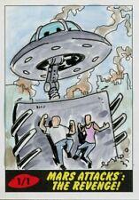 Mars Attacks The Revenge Sketch Card By Matt Stewart
