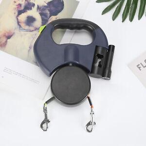 Double Retractable Dog, Feet Dog Walking Leash Pets Under 25Lbs