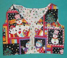 "Reversible Christmas Snowmen Vest for Child Size 1 or 36"" My Size Barbie Myvhx09"