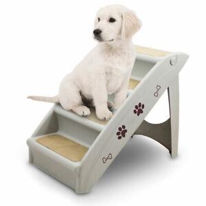 ANIMEL Hundetreppe Tiertreppe Einstiegstreppe 4 stufig Hund Katze 100kg Weezi