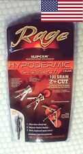 Rage Hypodermic Slipcam Crossbow 100 grain 3 pack of broadheads r39600