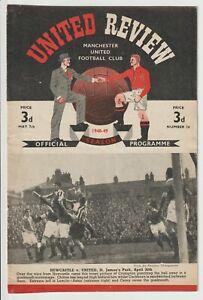 Manchester United V Portsmouth Rare Division One 1948/49 Portsmouth Champions