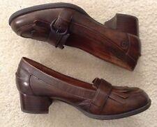 EUC! Women's Boc By Born Leather Upper Fringe Slip On Shoes Sz 7/38