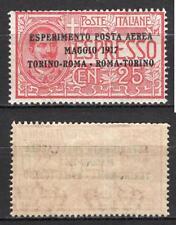 #603 - Regno - 25 cent posta aerea sovrastampato, 1917 - Linguellato (* MH)