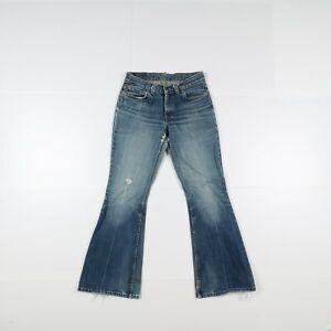 Levi's 544 Flare Bootcut Usato (Cod.J1029) W28 L32 Vita Media Donna Denim Jeans