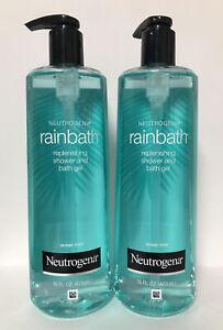 (2) Neutrogena Rainbath Replenishing Shower and Bath Gel-Ocean Mist-16oz. Each