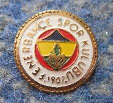 FENERBAHCE SPOR KULUBU  TURKEY FOOTBALL FUSSBALL SOCCER 1980's SMALLER PIN BADGE