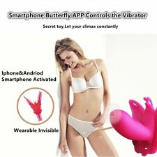 Female Wearable Butterfly App Bluetooth Remote Control Strong Vibrator in Panty
