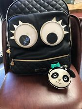 Betsey Johnson Googly Eyes Back Pack And Rare Panda Change Purse