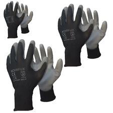 24 Paar Arbeitshandschuhe PU Montagehandschuhe Garten Handschuhe SCHWARZ BOHRFUX