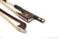 1X French Style Cello Bow 4/4 Snakewood Natural HorseTail Great Balance