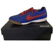 Nike Men's Tiempo Genio Red/Blue Leather Us 10 Indoor Soccer