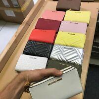 Michael Kors Jet Set Travel / Peyton Double Zip Wristlet Phone Wallet Purse $198