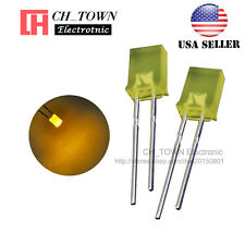 100pcs 2x5x7mm Diffused Yellow Light Rectangle Rectangular Square LED Diodes USA