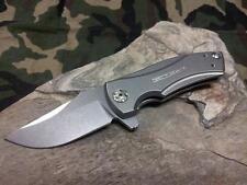 Zero Tolerance George Titanium Folding Knife Drop Pt Stonewash Lockbar KVT 0900