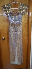 VINTAGE ALYCE DESIGNS GOLD SEQUIN EVENING PROM GOWN DRESS SIZE 6