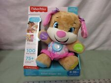 Fisher-Price Laugh and Learn Puppy Smart Stages Sis 75 songs 100 first words toy