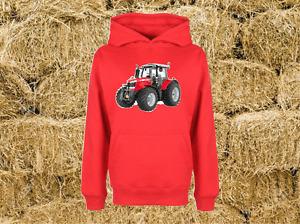 Massey Ferguson Hoodie Tractor Combine Farm Heavyweight Sweat Childs All Sizes