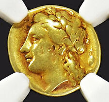 APHRODITE - NGC CERTIFIED SICILY, SYRACUSE AGATHOCLES ELECTRUM 50 LITRAI
