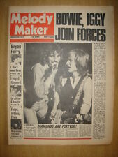 MELODY MAKER 1977 JAN 29 DAVID BOWIE IGGY POP FLOYD